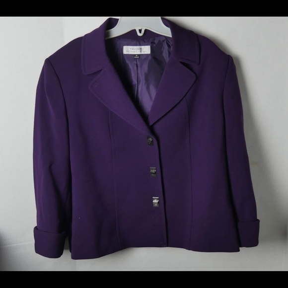 Tahari Arthur S. Levine Jackets & Blazers - Tahari Arthur S. Levine Purple Blazer Size 16